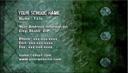 Green Grunge Business Card