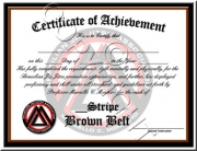 Brown Belt Stripes