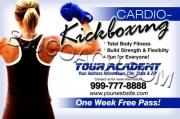 Blue Cardio-Kickboxing Flyer
