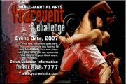 MMA Event Grunge Flyer