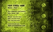 Yellow Grunge Business Card