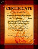 Tiger Border Certificate