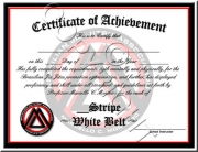 White Belt Stripes