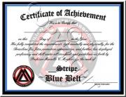 Blue Belt Stripes
