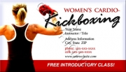 Cardio Kickboxing Business Card