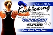 Blue Cardio-Kickboxing Flyer