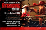 Kickboxing Seminar Flyer